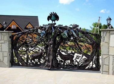 Ворота со сложным рисунком