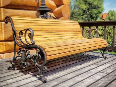 Кованая скамейка для дома